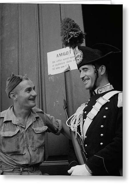 Italian National Police In Full Dress Greeting Card