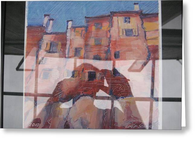 Italian Painting Reflection Greeting Card