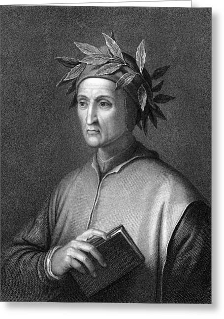 Italian Poet Dante Alighieri Greeting Card by Underwood Archives