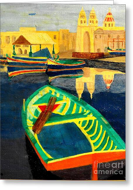 Italian Port Greeting Card