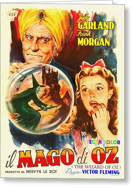 Italian Poster Of The Wizard Of Oz Greeting Card by Art Cinema Gallery