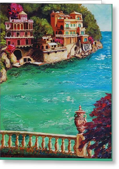 Italian Riviera Greeting Card by Santo De Vita
