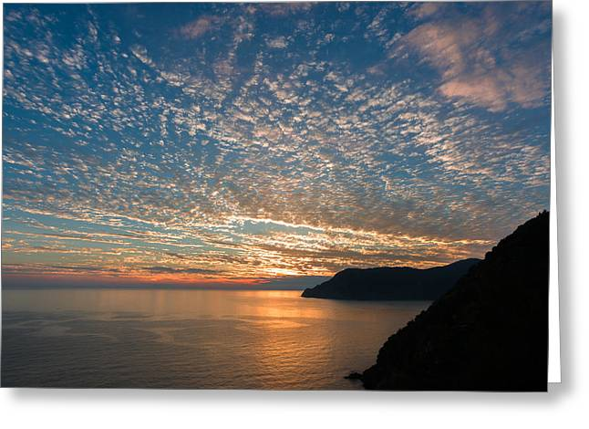 Greeting Card featuring the photograph Italian Riviera Sunset by Carl Amoth