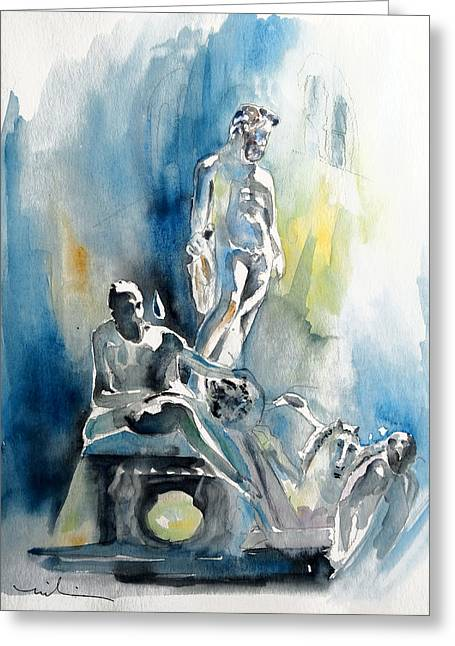 Italian Sculptures 01 Greeting Card by Miki De Goodaboom