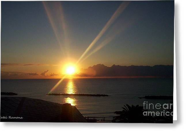 Greeting Card featuring the photograph Italian Sunrise by Ramona Matei