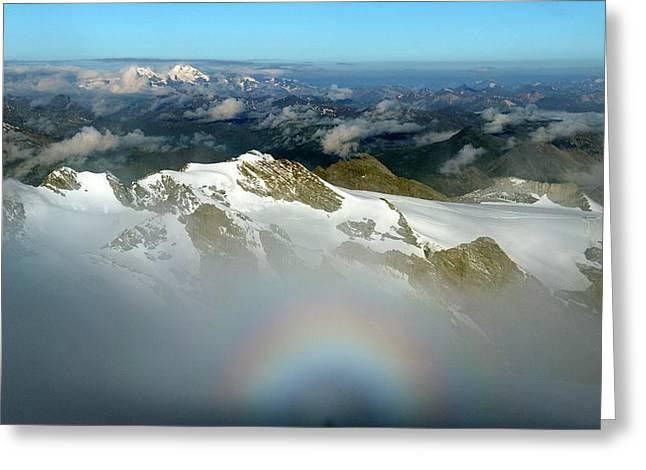 Italian-swiss Alps Greeting Card by Martin Rietze