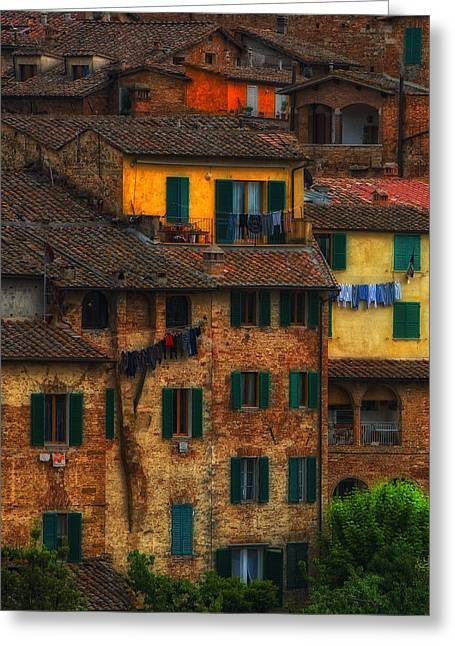 Italian Village View Greeting Card