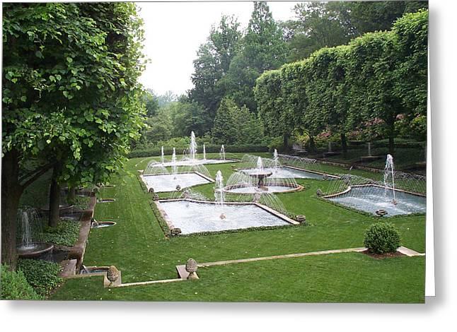 Italian Water Garden Greeting Card by Barbara McDevitt
