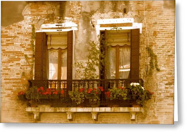 Italian Windowbox 3 Greeting Card