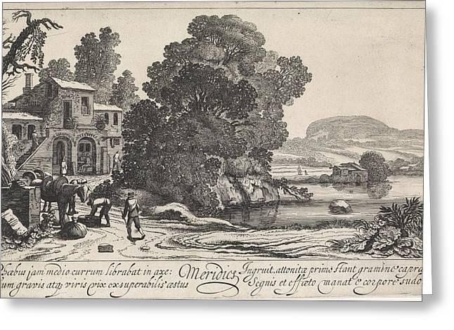 Italianate Landscape Afternoon, Jan Van De Velde II Greeting Card by Jan Van De Velde (ii)