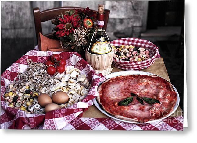 Italiano Greeting Card by John Rizzuto