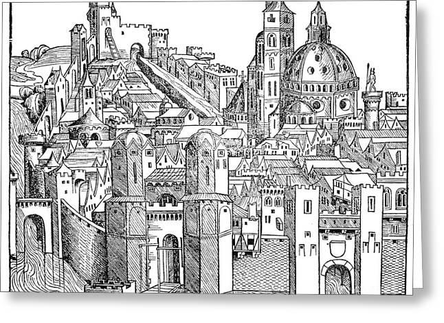 Italy - Padua 1493 Greeting Card by Granger