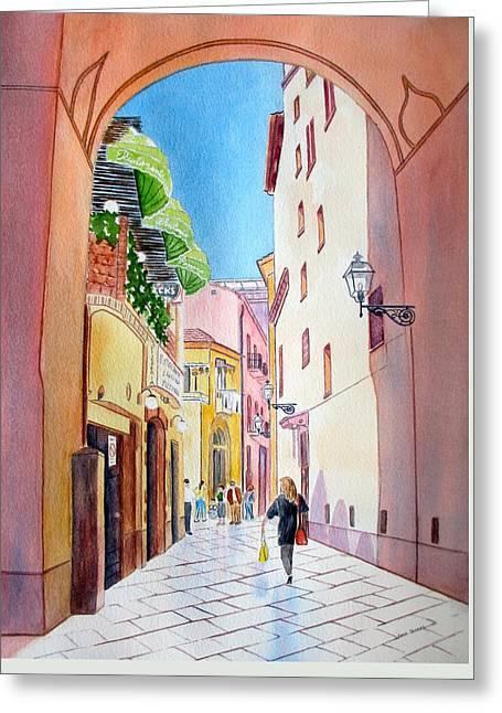 Italy Amalfi Shopping Greeting Card