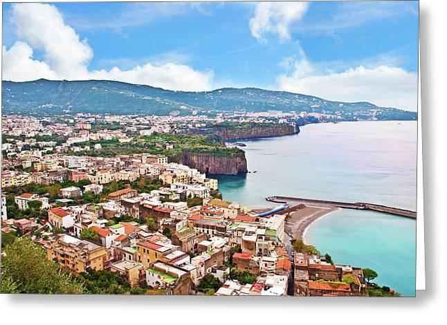 Italy, Campania, Mediterranean Sea Greeting Card