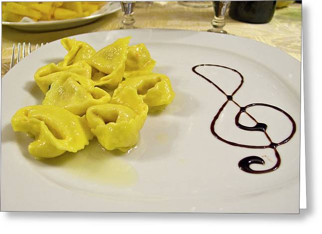 Italy, Cento A Plate Of Cheese Greeting Card