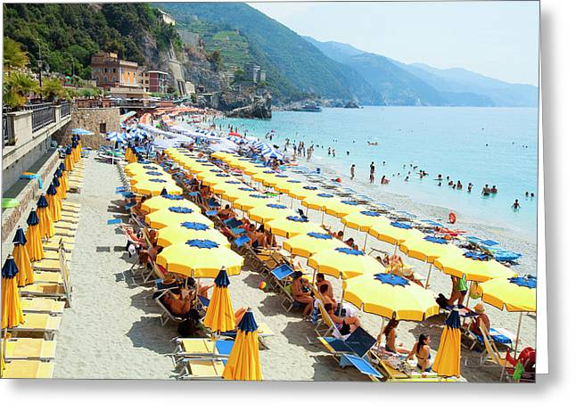 Italy Cinque Terre Monterosso - Greeting Card by Panoramic Images