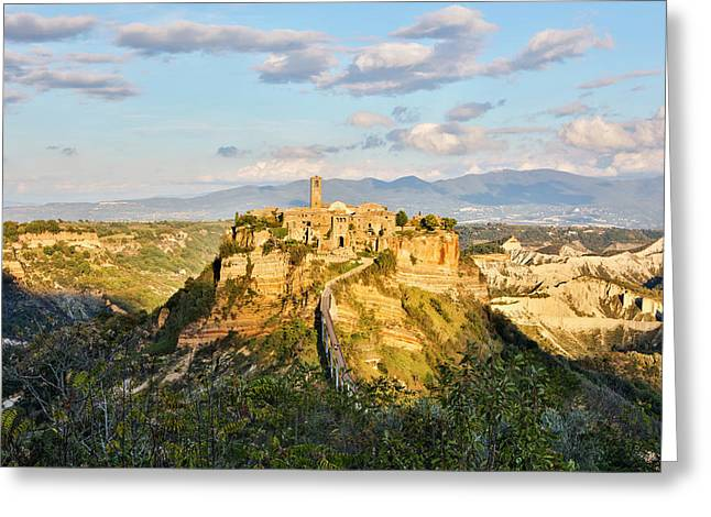 Italy, Civita, A View Of The City Greeting Card