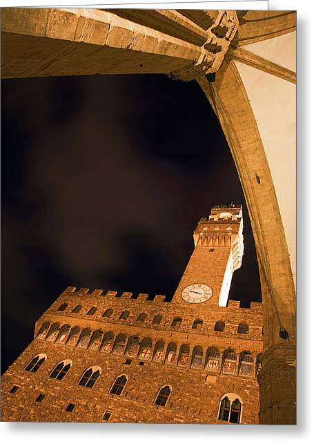 Italy, Florence Palazzo Vecchio Greeting Card by Jaynes Gallery