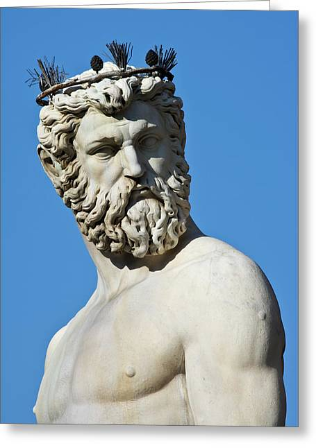Italy, Florence Statue Of Roman God Greeting Card by Jaynes Gallery