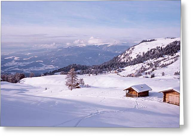 Italy, Italian Alps, High Angle View Greeting Card by Panoramic Images