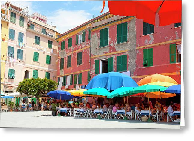 Italy Liguria Cinque Terre Vernazza - Greeting Card by Panoramic Images