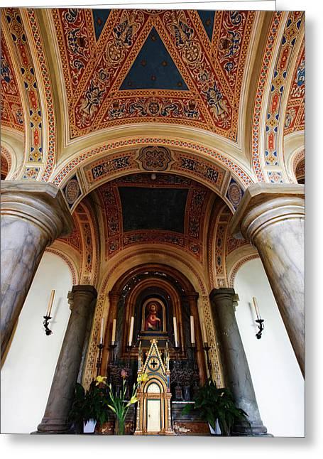 Italy, Pienza, Cathedral Of Santa Maria Greeting Card