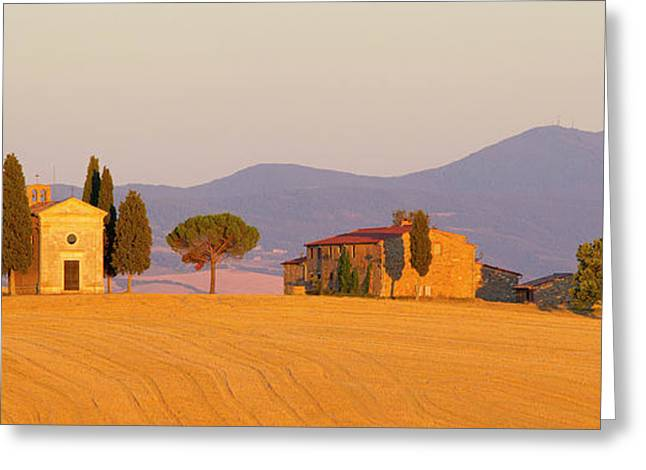 Italy, Tuscany Little Chapel At Sunset Greeting Card by Jaynes Gallery
