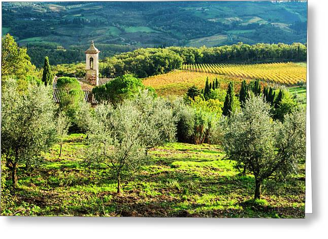 Italy, Tuscany, Pieve Di Santa Maria Greeting Card