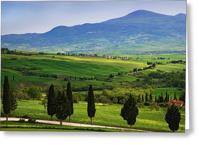 Italy, Tuscany Scenic Of The Tuscan Greeting Card by Jaynes Gallery