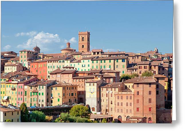 Italy, Tuscany, Siena - The Old Town Greeting Card