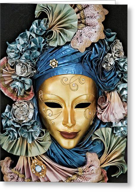 Italy, Venice A Venetian Paper Mache Greeting Card
