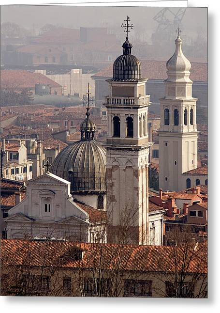 Italy, Venice An Eastward View Greeting Card by Jaynes Gallery