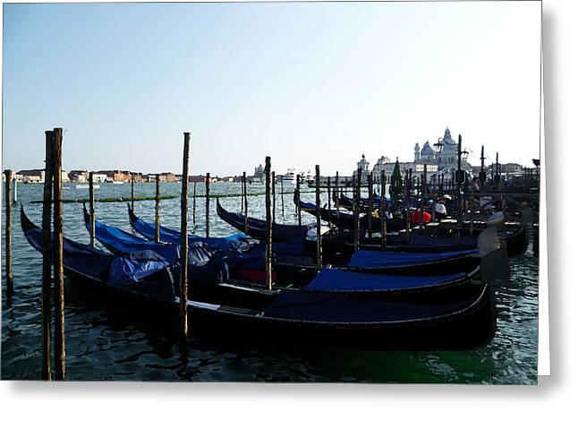 Italy Venice Gondolas Greeting Card by Irina Sztukowski
