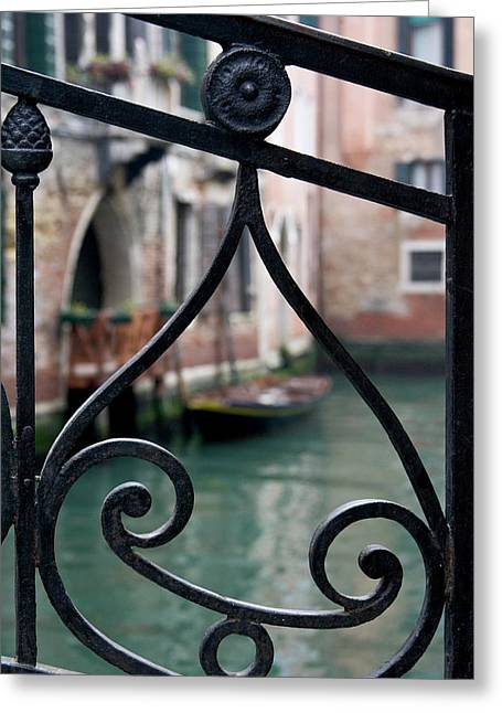 Italy, Venice Stair Railing Metalwork Greeting Card by Jaynes Gallery