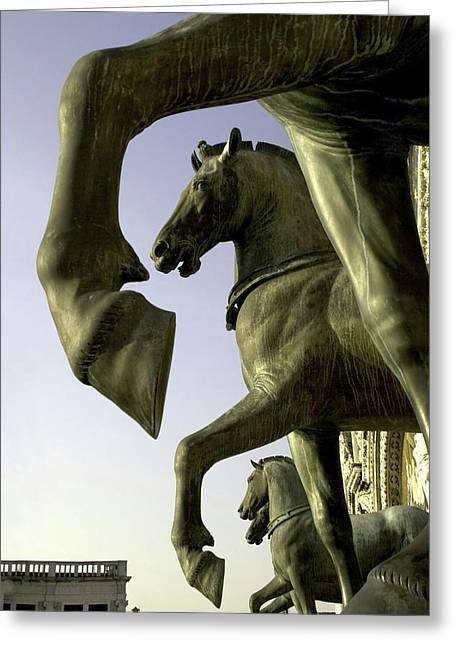 Italy, Venice The Horses Of San Marco Greeting Card