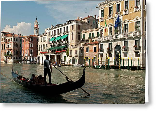 Italy, Venice Tourists Ride Greeting Card