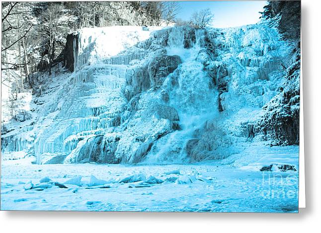 Ithaca Falls In Winter Greeting Card