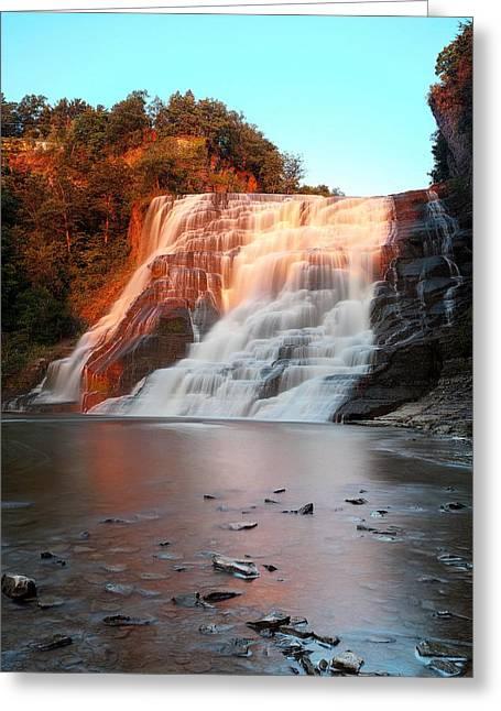 Ithaca Waterfalls New York Greeting Card by Paul Ge