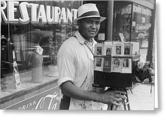 Itinerant Photographer In Columbus Ohio Greeting Card