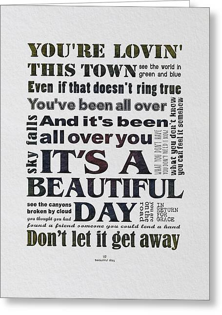 It's A Beautiful Day Typography Greeting Card