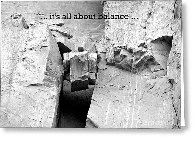 It's All About Balance Greeting Card