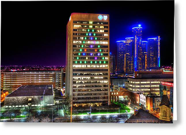 It's Christmas Time In The D... Greeting Card by A And N Art
