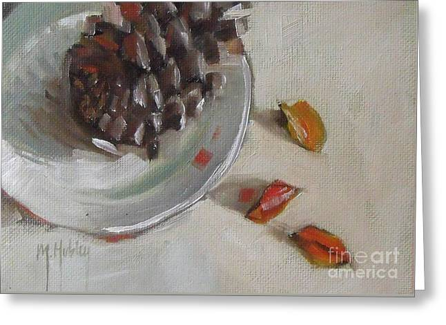 Pine Cone Still Life On A Plate Greeting Card