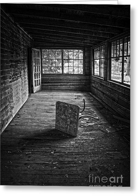 Greeting Card featuring the photograph It's Empty Now by Debra Fedchin