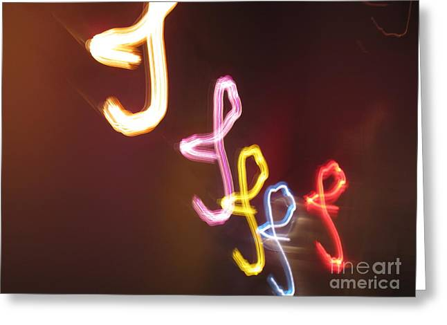 Greeting Card featuring the photograph It's I... I... And More Of I. Dancing Lights Series by Ausra Huntington nee Paulauskaite