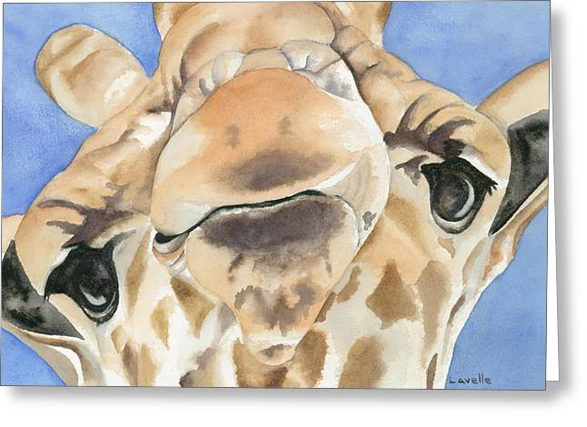 It's Lonely At The Top Greeting Card by Kimberly Lavelle