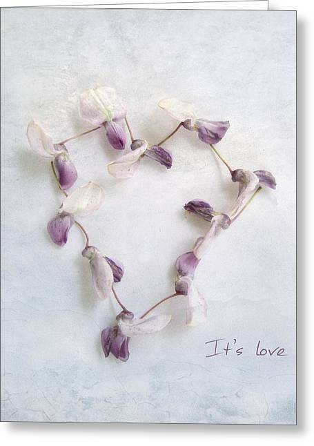 It's Love ... Greeting Card by Louise Kumpf