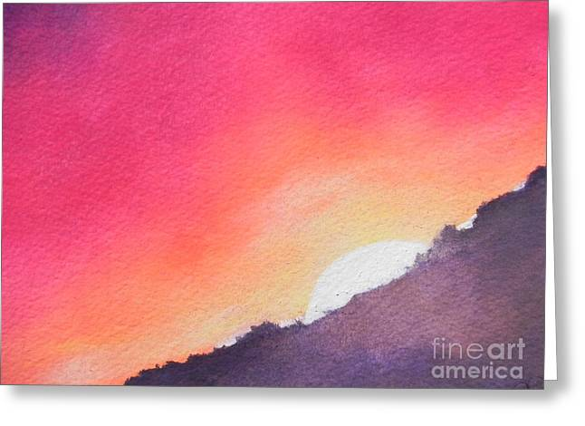 Greeting Card featuring the painting It's Not About The Climb  Rather What Awaits You On The Other Side by Chrisann Ellis
