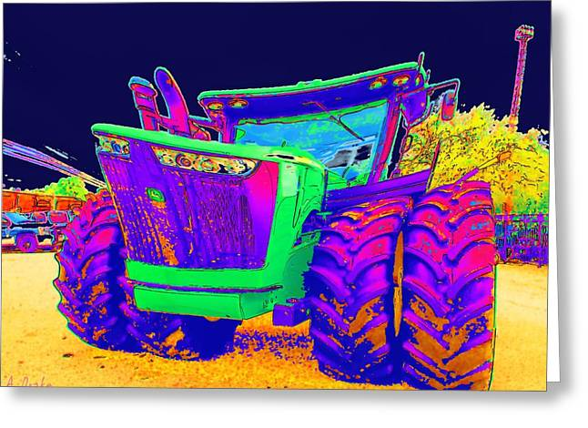 Its Not Your Fathers John Deere Greeting Card by Alec Drake