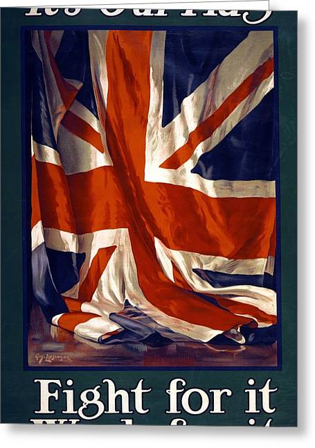It's Our Flag Greeting Card by Guy Lipscombe
